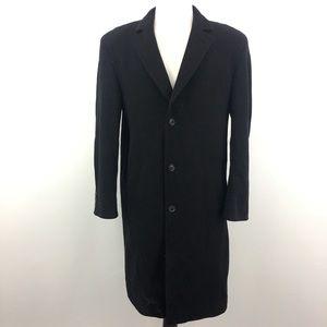 Hugo Boss Black Wool Long Pea Coat